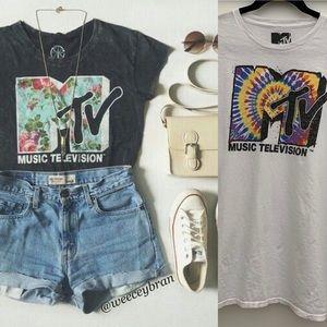 MTV tie-dye short sleeve tshirt
